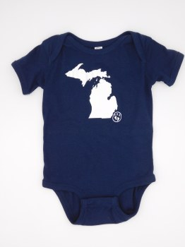 Onesie Michigan Mit 6 Mo Navy
