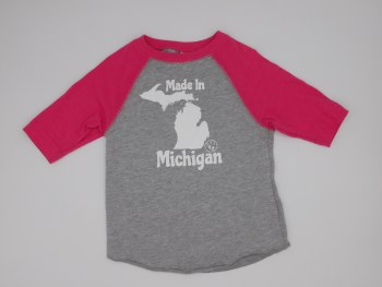 Made In Mi B-ball T Sz 2 Pink