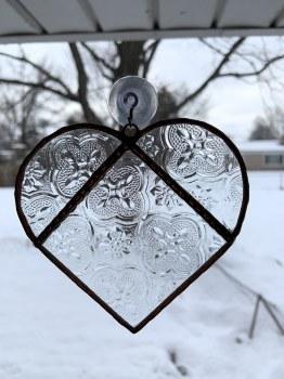 Staind Glass Heart Suncatcher