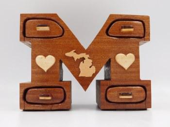 Michigan M Treasure Box Sapele