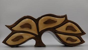 Hardwood 5 Drawer Tree Jewelry Box