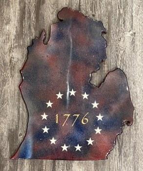 Betsy Ross Mitten Cutout