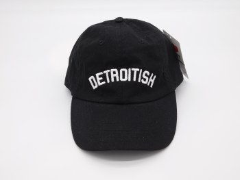 "Baseball Cap ""Detroitish"" Black"