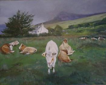 Skye Herd 16x20 framed Original Acrylic Painting