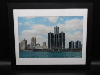 Detroit From The River 22x18