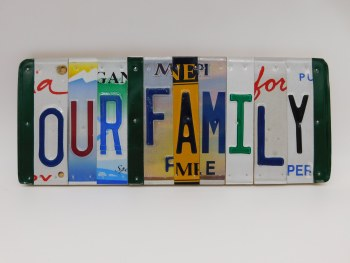 """Word Sign, """"Our Family"""""""