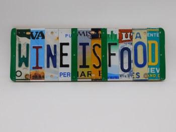"Word Sign, ""Wine Is Food"""
