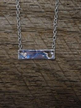 Necklace MI St Bar/Cir Silver
