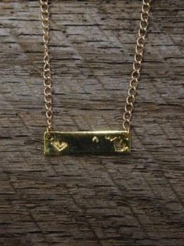 Necklace MI State Bar Gold