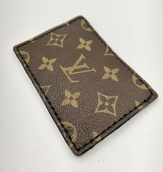 Louis Vuitton Upcycled Card Holder Tan/Brown