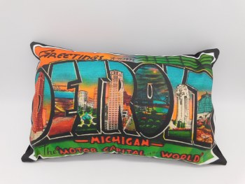 Pillow Greetings From Detroit