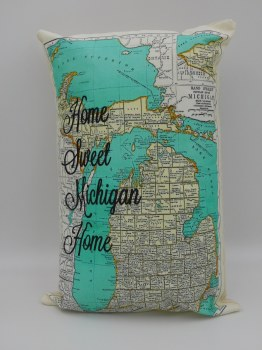 Home Sweet Home Michigan Pillow