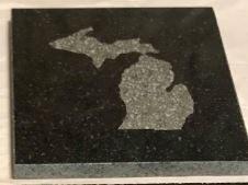 "Granite Coaster 4"" Square"