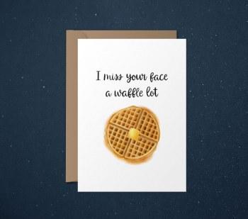 Card Happy Waffle Face