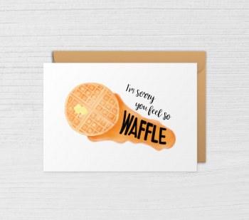 Get Well Card Feel so Waffle