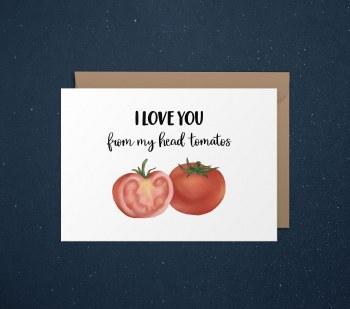 Love Card Heart Tomatoes