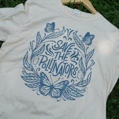 Save The Pollinators Blue/White Shirt
