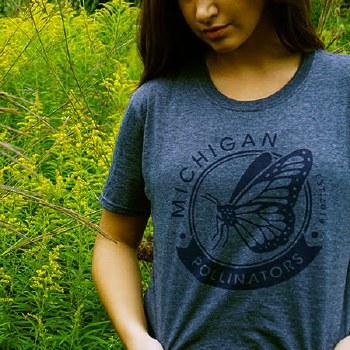 Michigan Pollinators Gry Tee