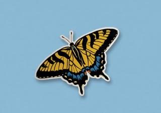 """Tiger Swallowtail Sticker 4""""x 3"""""""