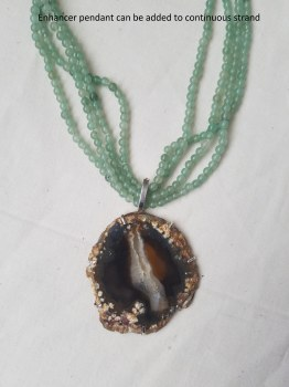 Geode Agate Pendant Sterling