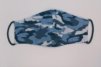 Face Mask Blue Camo 6-12