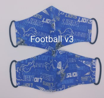 Face Mask Football Detroit Tween - Adult