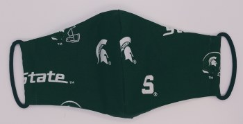 Face Mask Green Football Adult