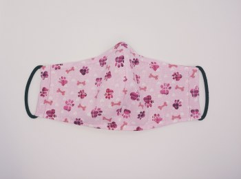 Face Mask Pink Paws Adult