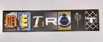 """Sticker Detroit  1.75"""" x 7.75""""          3/$8"""
