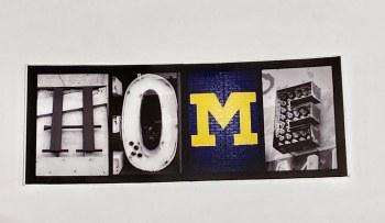 "Sticker Home UofM 1.75"" x 4.75""         3/$8"