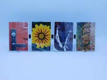 "Frame Clip ""Love"" Frame Measures 17 1/2"" x 6"" w/ 4x6 photos"