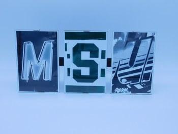 """Frame Clip """"MSU"""" Frame measures 13"""" x 6"""" w/ 4x6 photos"""