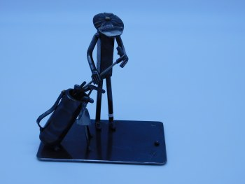 Railroad Spike Figure Golfer Bag