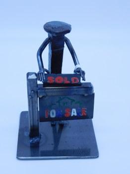 Railroad Spike Figure Realtor For Sale