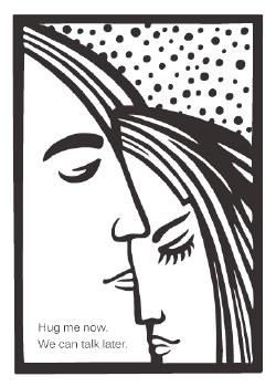 "Love Card ""Hug Me Now"""