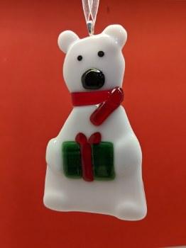 Fused Glass Polar Bear