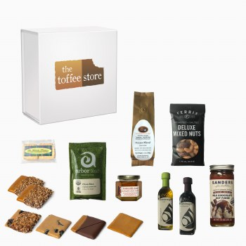 Toffee with Michigan Artisan Food Product Gift Box - 50