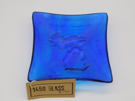 "Dish 5"" Glass Mi Cobalt Blue"