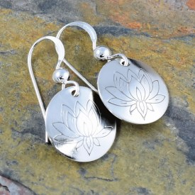 Lotus Flower Bloom Earrings