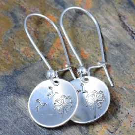 Dandelion Round Earrings