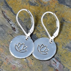 Lotus Flower Outline Earrings