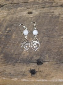 Sterling Silver Lotus Moonstone Oval