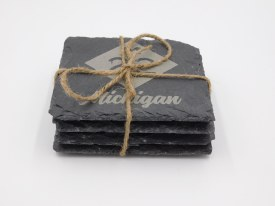 Coaster Set Slate Up North Set of 4