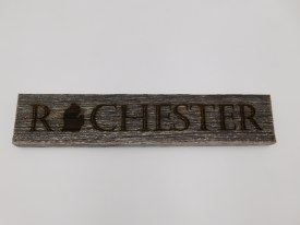 Barn Wood Rochester with Mitten Sign