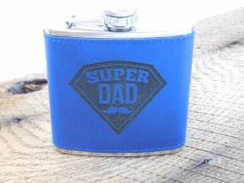 Flask Super Dad Blue Black
