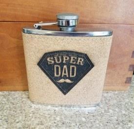 Flask Super Dad Cork Black