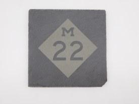 Slate Coaster M-22