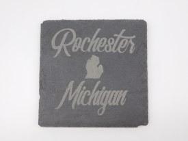 Slate Coaster Rochester MI Script