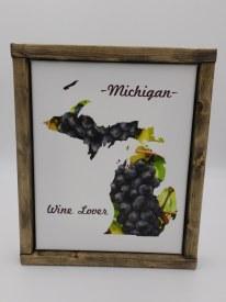 Michigan Canvas Wine Lover8x10