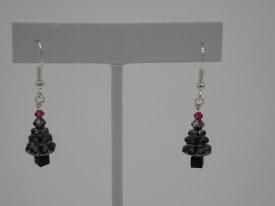Ear Swarovski Tree Gray Pink